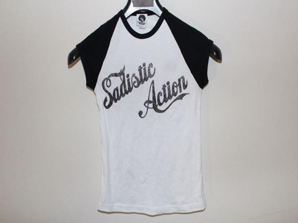 サディスティックアクション SADISTIC ACTION レディースTシャツ Sサイズ 新品_画像1