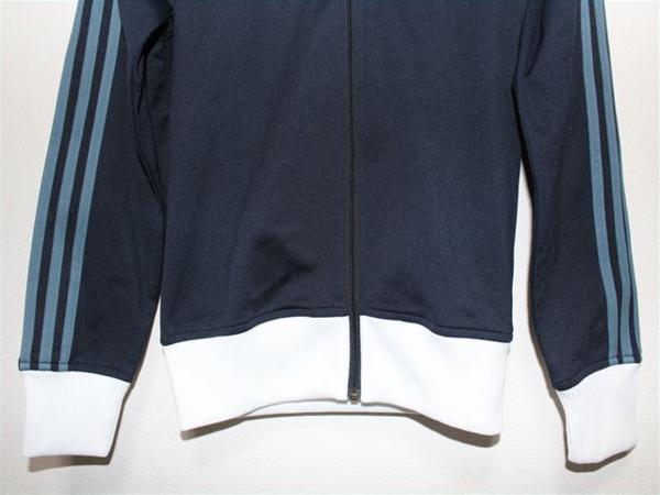 アディダス adidas レディーストラックジャケット ネイビー Sサイズ 新品_画像4