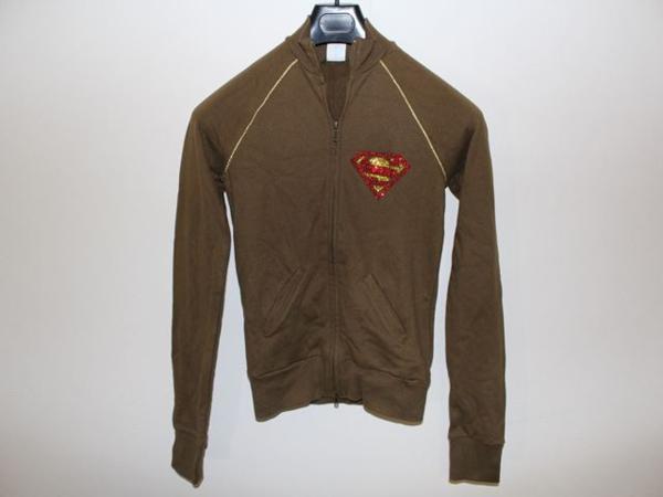 サディスティックアクション SADISTIC ACTION スーパーマン レディーストラックジャケット グリーンxゴールド 新品_画像1
