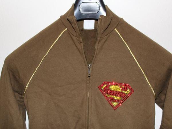 サディスティックアクション SADISTIC ACTION スーパーマン レディーストラックジャケット グリーンxゴールド 新品_画像2