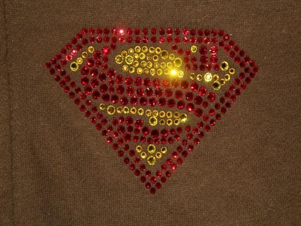 サディスティックアクション SADISTIC ACTION スーパーマン レディーストラックジャケット グリーンxゴールド 新品_画像3