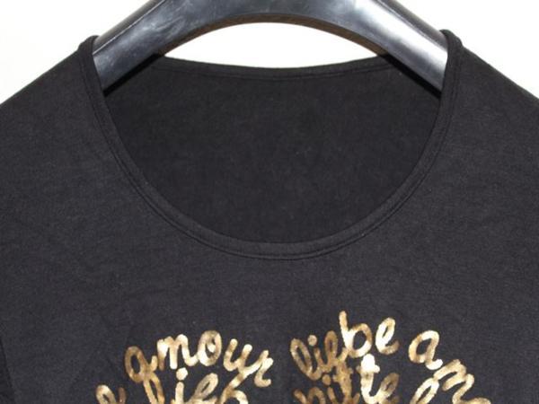 イタリア製 レディース長袖Tシャツ ブラック Mサイズ 新品_画像2