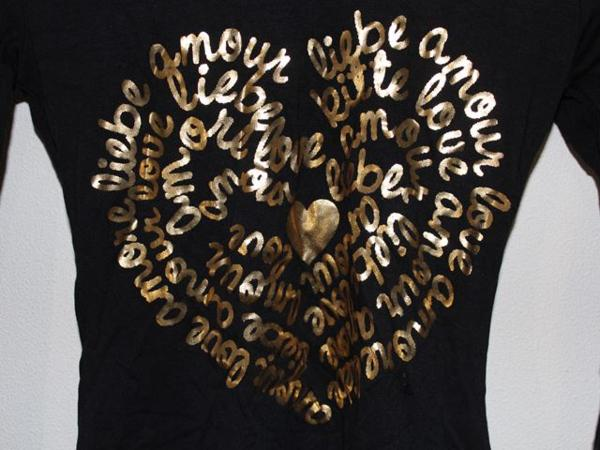 イタリア製 レディース長袖Tシャツ ブラック Mサイズ 新品_画像3
