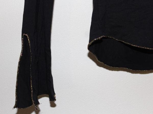 イタリア製 レディース長袖Tシャツ ブラック Mサイズ 新品_画像4