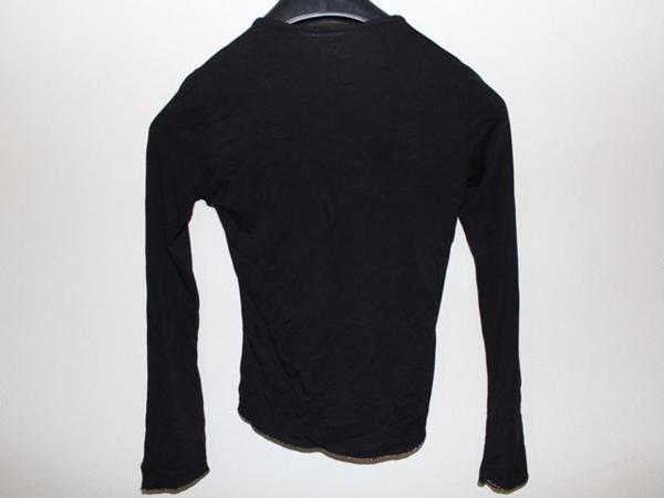 イタリア製 レディース長袖Tシャツ ブラック Mサイズ 新品_画像5