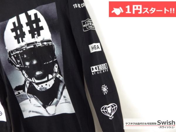 A895●Been Trill ビーントリル × HBA●新品 TEE 長袖 Tシャツ/ロンT S 黒●_画像3