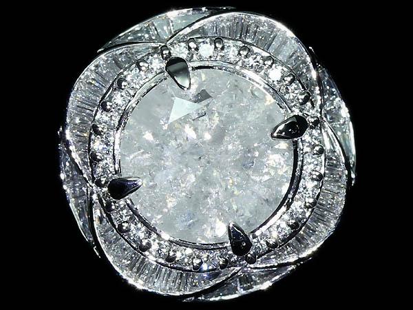 ☆新品☆ 1円~【RK宝石】≪DIAMOND≫ 希少!!! 特大ダイヤモンド5.095ct!!! 脇石極上ダイヤ 1.00ct!!! Pt900 超高級リング S-134_画像4