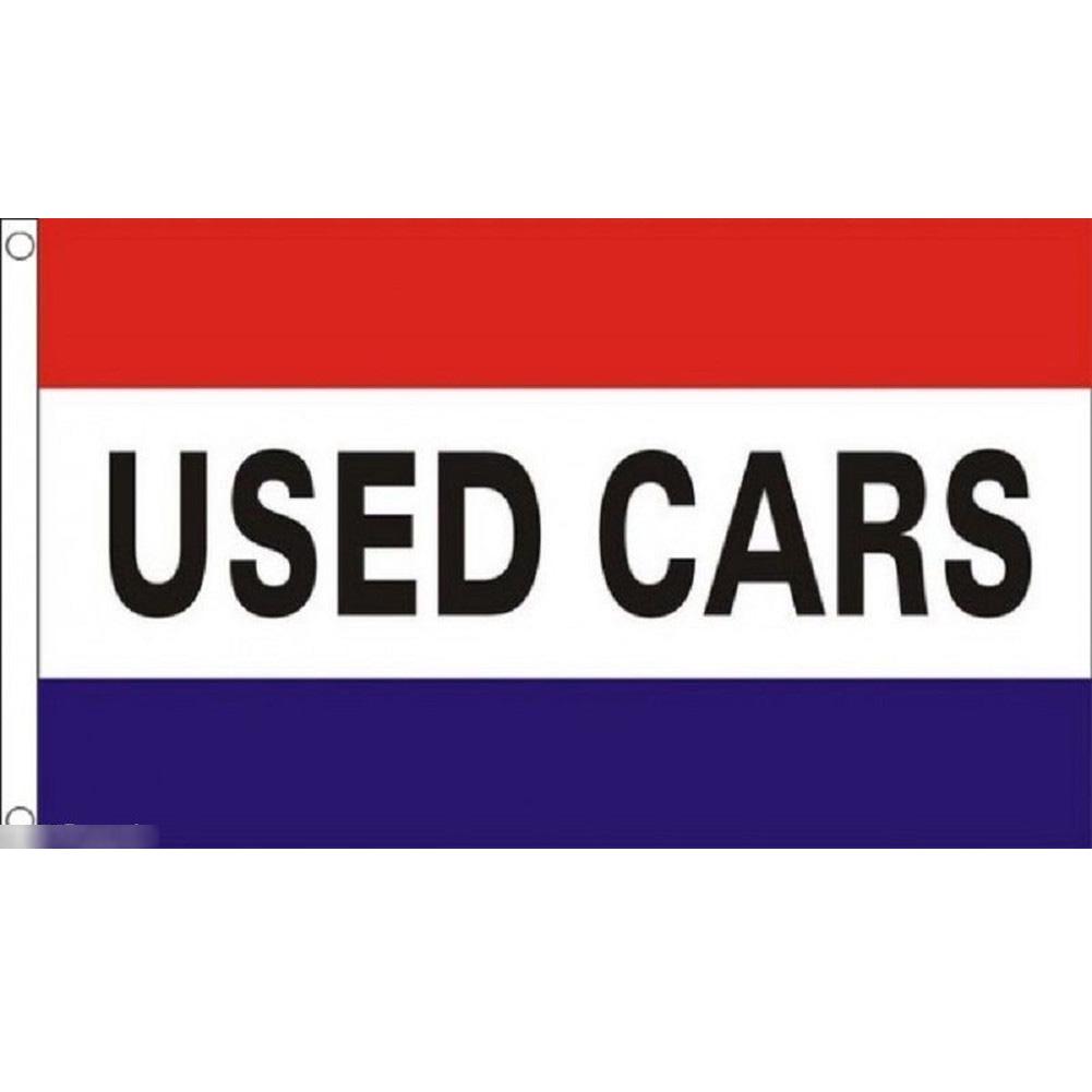 海外限定 国旗 カーショップ 中古車 ユーズド 販売 のぼり旗 特大フラッグ_画像1