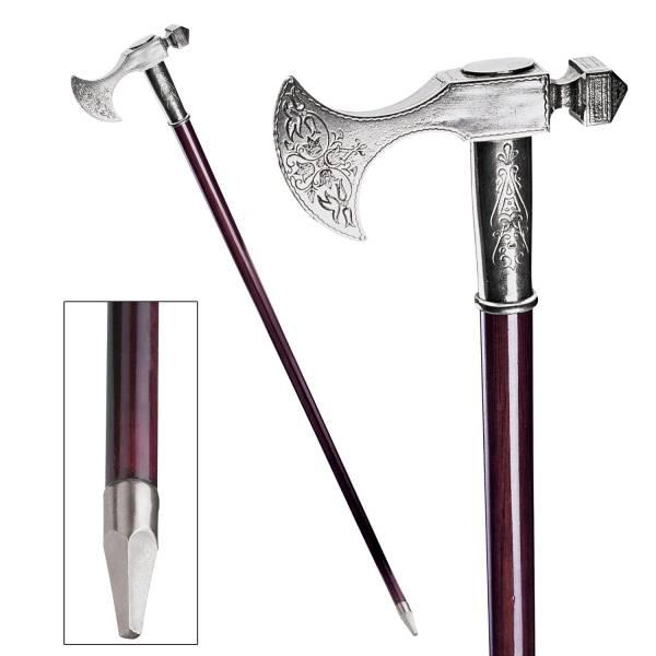 エレガントなスティッキ ピューター製の杖 ババロア(中世風) ウォーキングステッキ 紳士風/ Bavarian Walking Stick [輸入品_画像1