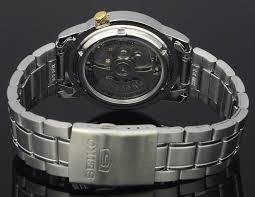 【1円】【逆輸入SEIKO5】【完売品】【新品】【正規品】セイコー5 メンズ 自動巻き 腕時計 ブラック×ゴールドダイアル ステンレスベルト_画像6