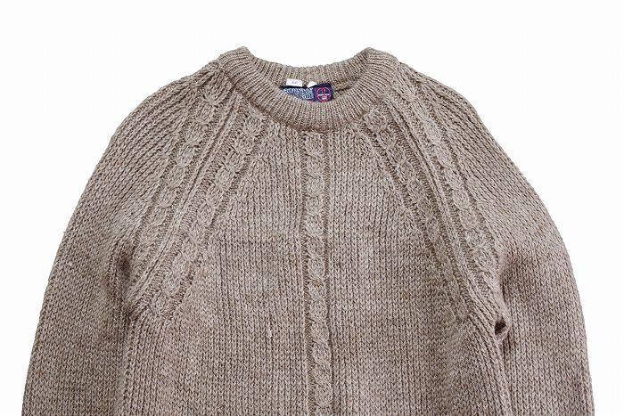 【M/L】 90's イギリス製 ヴィンテージ ウールニット セーター クルーネック メンズ アメリカ古着 COUNTRY VOGUE ブリティッシュウール_画像4