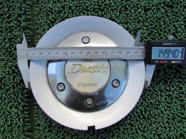 Dusk Capitol メッキ センターカバー ハブカバー ホイールカバー センターキャップ 4枚 外径149.4mm 内径55.6mm_画像2