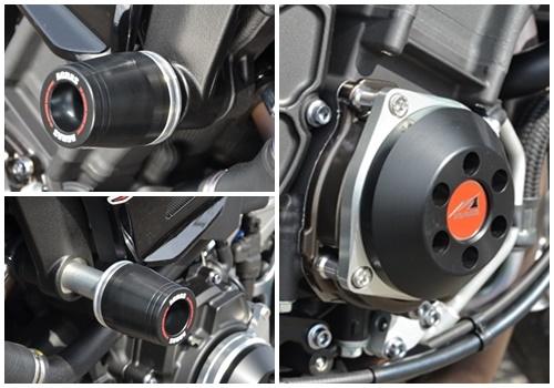 AGRAS(アグラス) MT-10(SP) 17~ レーシングスライダー 3点セット! フレームタイプ+クランクタイプ_3点セットです!