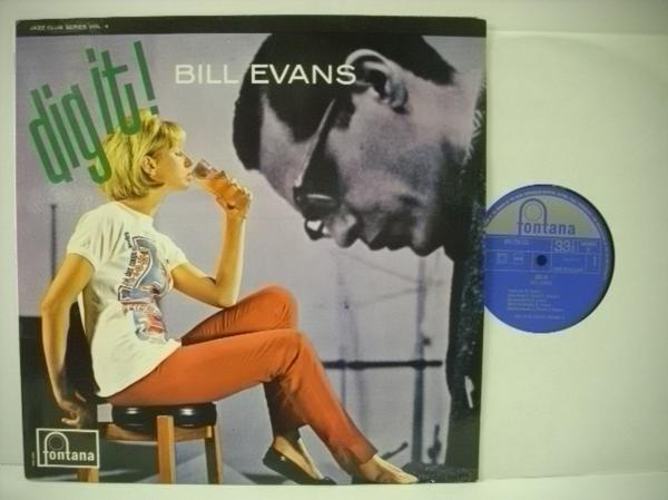 ■LP BILL EVANS ビル・エヴァンス / DIG IT! 輸入盤 オランダ FONTANA MONO_画像1