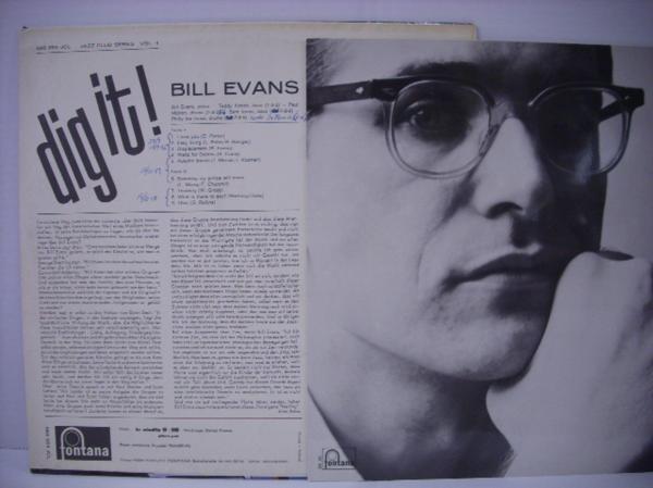 ■LP BILL EVANS ビル・エヴァンス / DIG IT! 輸入盤 オランダ FONTANA MONO_画像2