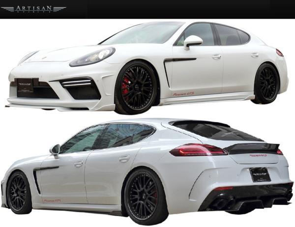 【M's】Porsche 970パナメーラ 13y-後期 ARTISAN サイドアンダー_画像4