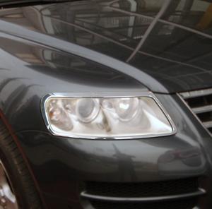 フォルクスワーゲン メッキ ヘッド テール ランプ ライト リング トゥアレグ リム カバー_画像1