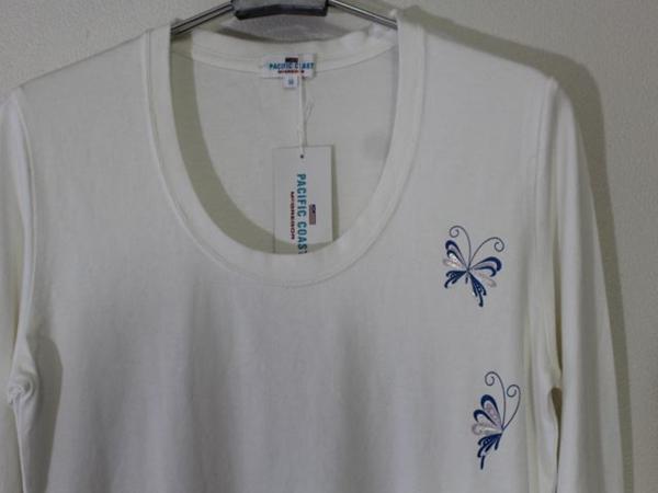 パシフィックコースト Pacific Coast レディース長袖Tシャツ ホワイト Mサイズ 新品_画像2