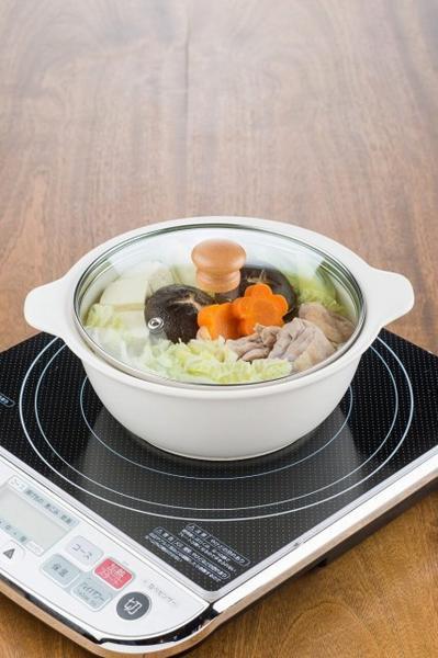 2セット IH対応陶器 陶製ラーメン鉢 白×2セット 木製鍋_画像2