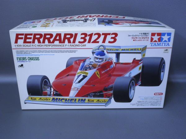 タミヤ製(ITEM49191) 1/10電動フォーミラーカー フェラーリ 312T3 (F103RSシャシー)未組み立て品