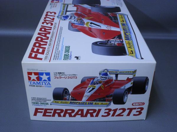 タミヤ製(ITEM49191) 1/10電動フォーミラーカー フェラーリ 312T3 (F103RSシャシー)未組み立て品_画像3