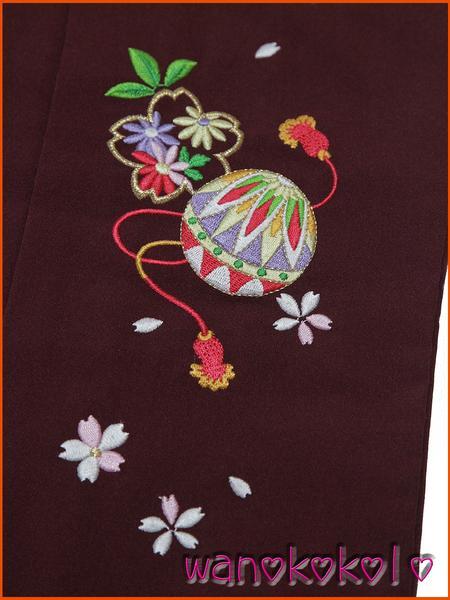 【和のこころキッズ】七五三・卒園式に◇七歳用刺繍袴・古典柄E_画像2