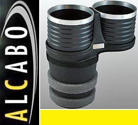 【M's】ボルボ S60 V60 XC60 X70 XC70 S80 ALCABO ドリンクホルダー(ブラック+リング)//アルカボ カップホルダー VOLVO AL-B107BS_画像1