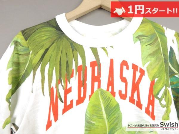 A895●OFF-WHITE オフホワイト●新品 BANANA LEAVES PRINTED T-SHIRT Tシャツ M●_画像2