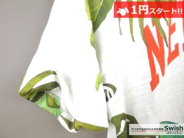 A895●OFF-WHITE オフホワイト●新品 BANANA LEAVES PRINTED T-SHIRT Tシャツ M●_画像4