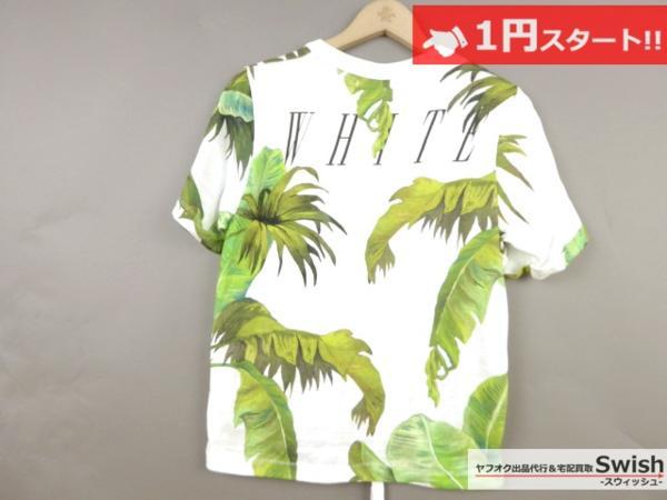 A895●OFF-WHITE オフホワイト●新品 BANANA LEAVES PRINTED T-SHIRT Tシャツ M●_画像6