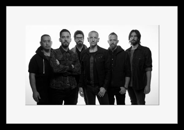 BW:人気ロックバンド!リンキン・パーク/Linkin Park/モノクロ写真フレームマット付-9