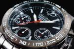 1円×3本 新品未使用 本物 正規品CHARLES PERRIN シャルルペリン 世界限定 クロノグラフ 腕時計 BLACK×BLACK ガンメタ 黒