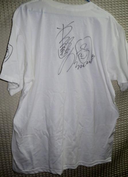 0922る3■直筆サイン入りTシャツ■岩崎宏美 25周年 Lサイズ(送料無料