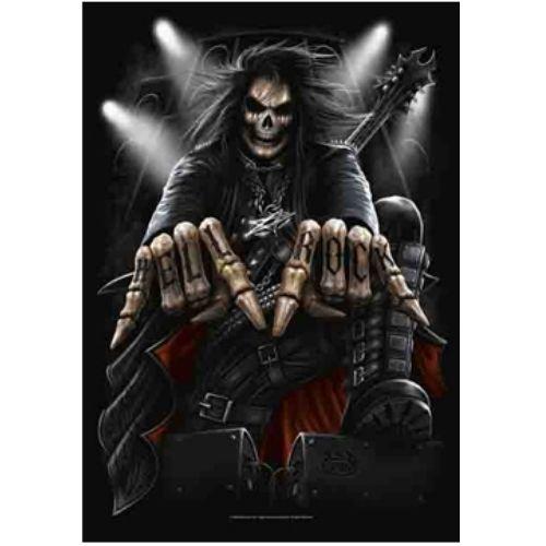 海外限定 公式 ロック ギタリスト スカル G247 特大布ポスター