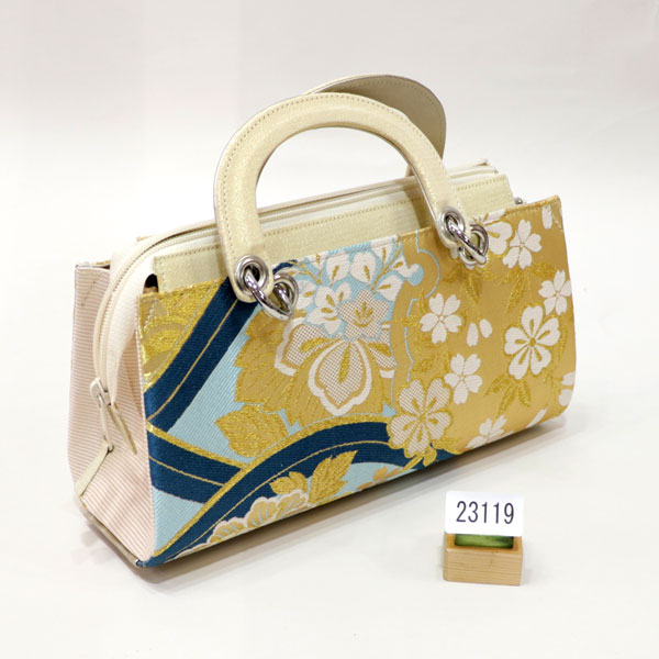 草履バッグセット 正絹帯地 彩小径 Lサイズ 新品 (株)安田屋_画像2