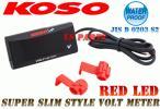 【正規品】LED電圧計/ボルトメーター赤ニンジャ250Rニンジャ400RZZR1100ZZR1200Dトラッカー