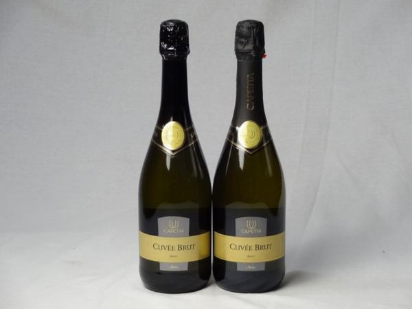 スパークリングワイン辛口2本セット カペッタ・バレリーナ・ブ_画像1