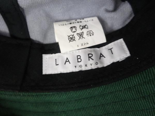 ▲LABRAT ラブラット BASEBALL HAT グレー ×グリーン 灰×緑_画像4