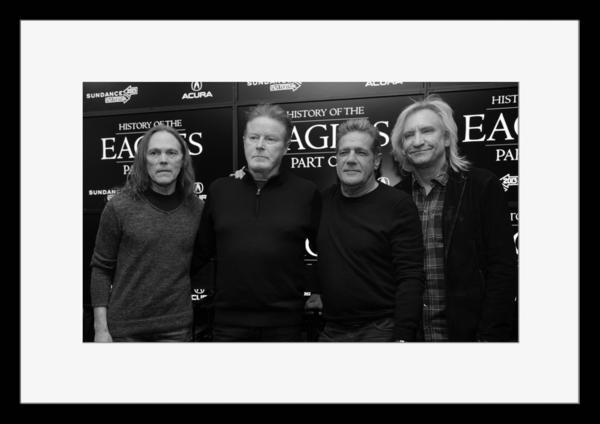BW:人気ロックバンド!イーグルス/Eagles/モノクロ写真フレーム-5