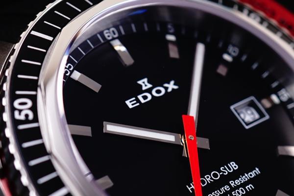 新品本物EDOX/エドックスHYDROSUBハイドロサブ500m防水RED保証_画像9
