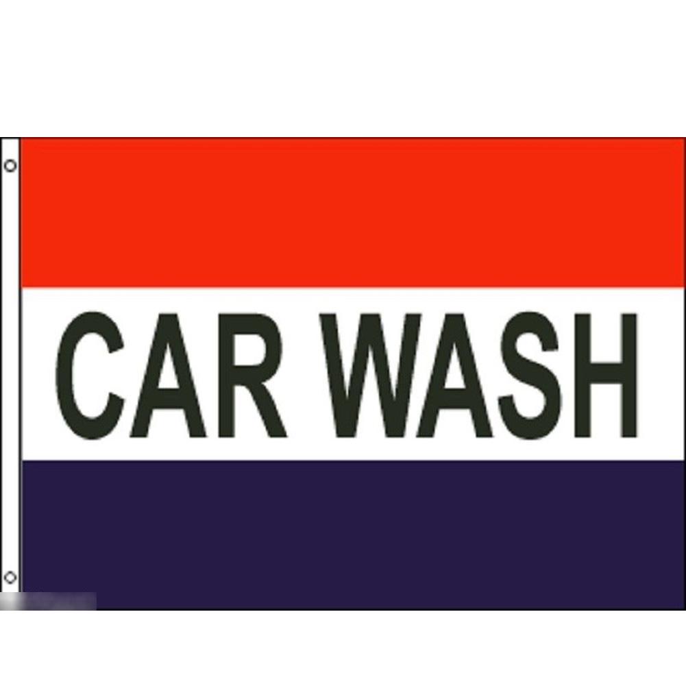 海外限定 国旗 洗車 カー ウォッシュ 手洗い コイン洗車場 のぼり旗 ショップ 店舗 特大フラッグ_画像1