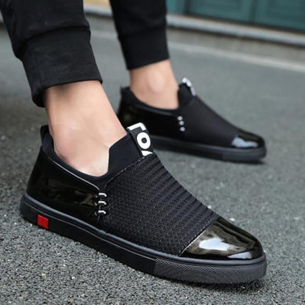 ウォーキングシューズ メンズ レザー 革靴ブラック26_画像1が商品になります