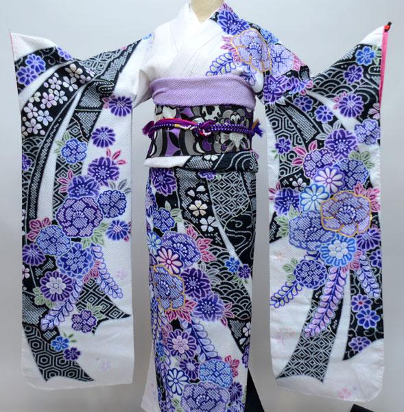 振袖 単品 合繊 生地は日本製 総絞り 金刺繍 仕立て上がり 新品 (株)安田屋_画像1