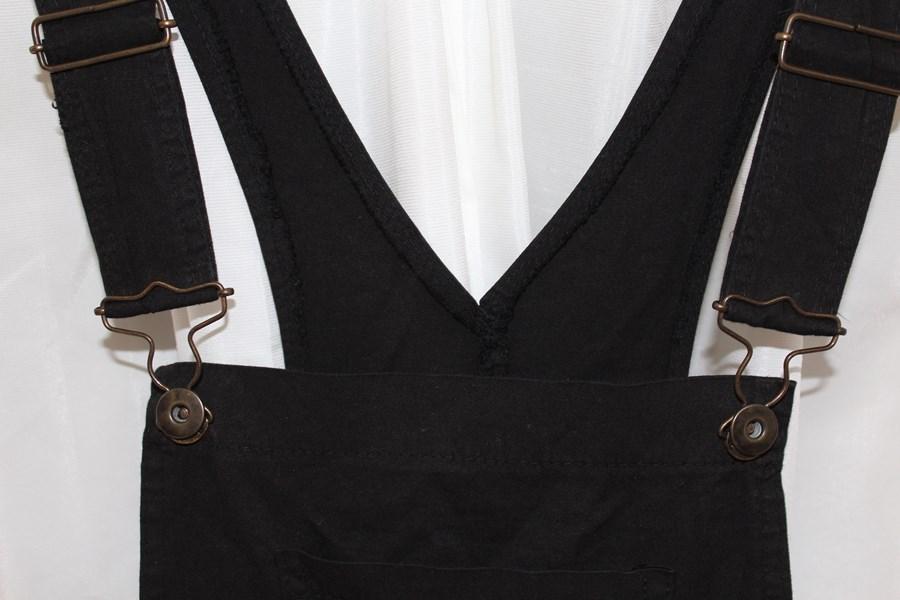 イタリア製 レディースサロペットミニスカート ブラック 新品_画像2
