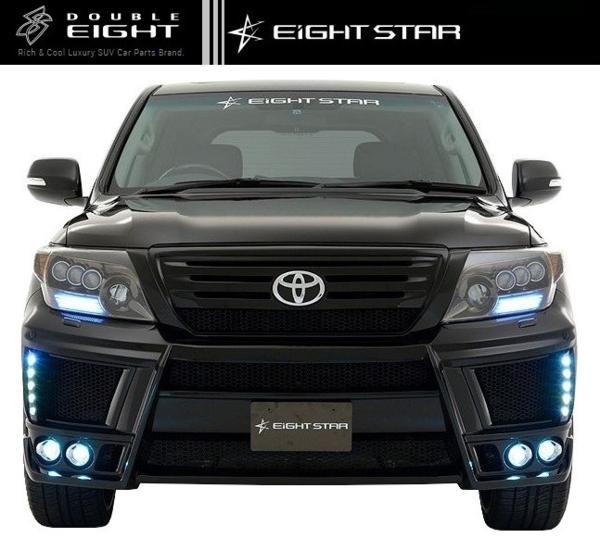 【M's】ランクル 200 中期 フロント バンパー LED付 EIGHT STAR_画像4