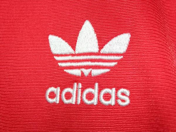アディダス adidas レディースジャージトップ レッド Sサイズ 新品_画像3