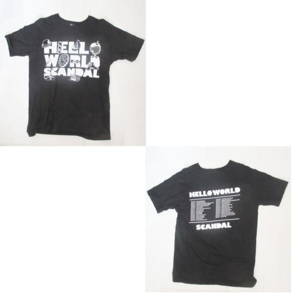 SCANDAL WORLD TOUR 2015 「HELLO WORLD」 Tシャツ ブラック スキャンダル グッズ