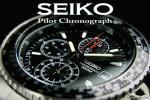 1円!海外限定生産逆輸入モデル【SEIKO】セイコー フライトマスター 1/20秒高速パイロットクロノBK 新品