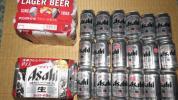 100円~ビール 350ml×24本 アサヒスーパードライ+賞味期限7月切キリンラガービール500ml×6本 適当な箱に詰めてお送りします 訳有