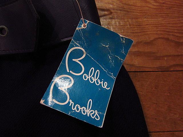 ビンテージ60's70's★DEADSTOCK Bobbie Brooksベルト付きウール台形スカート紺size7★50's80's古着屋卸レトロ_画像4